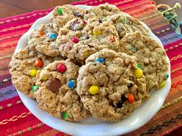 chewy peanut butter monster cookies flourless and easily gluten free