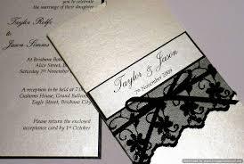 and black wedding invitations lace wedding invitations with beautiful design registaz
