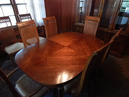 Thomasville Dining Room Set Circa  Includes  Chairs  With - Thomasville dining room chairs