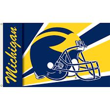 Michigans State Flag Michigan Wolverines 3ft X 5ft Team Flag Helmet Design