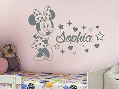 Minnie Mouse Decorations For Bedroom Cartoon Mickey Minnie Mouse Cute Animal Vinyl Wall Stickers Mural