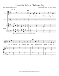 i heard the bells on day by dave fackrell satb