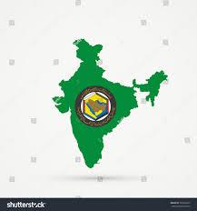 gulf logo vector india map cooperation council arab states stock vector 733816369