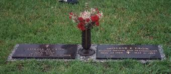 grave plaques headstones lowell harlin imogene nee brothers