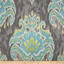 Teal And Yellow Curtains Screen Printed On Approx 6 5 Ounce Cotton Duck This Versatile