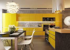 cuisine moderne jaune cuisine jaune et noir