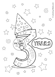 3 years birthday coloring pages for kids printables coloing
