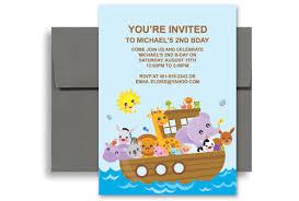 cartoon animals boat ride birthday invitation examples 5x7 in