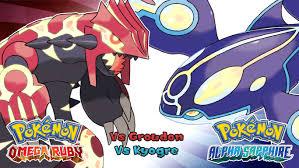 Omega Ruby Pokemon Omega Ruby Alpha Sapphire Battle Primal Kyogre Groudon