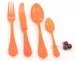 design besteck design besteck set re usable 4 teilig orange