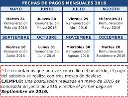 pago programa hogar marzo 2016 fechas de pago png