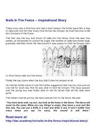 nails in the fence u2013 inspirational story