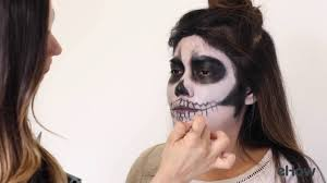 how to do skeleton makeup for halloween youtube