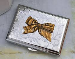 Vintage Business Card Case Bow Business Card Etsy