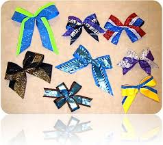 different types of hair bows cheer leading bows