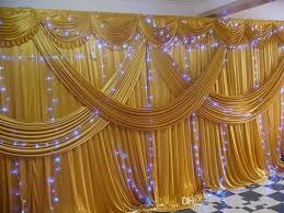 Indian Wedding Decorations For Sale Luxury 3x6m Ice Silk Gold Wedding Curtain Backdrops With Wedding