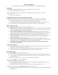 Resume Sample Using Html by Including Relevant Coursework In Cv