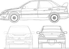 mitsubishi lancer drawing mitsubishi lancer evolution 8 smcars net car blueprints forum