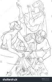 gospel story jesus give stock vector 649155622