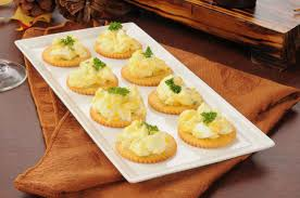 canapes recipes herbed egg canapé recipe with dijon mustard by archana s kitchen