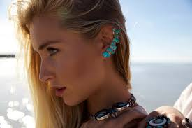 ear cuff turquoise ear cuff made to order stipp