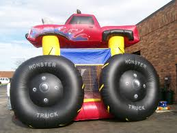 party rental chicago moonwalk truck for boys birthday or