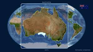australia satellite map zoomed in view of a australia outline with perspective lines