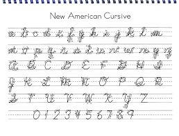 new american cursive busy at home