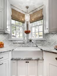 Kitchen Sinks With Backsplash Picturesque Farmhouse Sink With Backsplash Houzz Kitchen