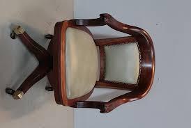bureau en acajou fauteuil de bureau en acajou xixe antiquites lecomte