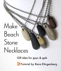 make stone pendant necklace images Make beach stone necklaces gift idea for guys and gals jewelry jpg