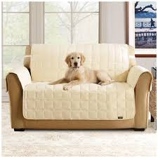 Pet Covers For Sofa by Sure Fit Waterproof Quilted Suede Sofa Pet Cover 292842