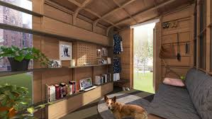 ideas prefabricated tiny home with interior design and wall unit