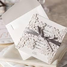 Wedding Card Invitation Design Günstige Neu Kommen 30 Teile Satz Spitze Und Band Einladungen