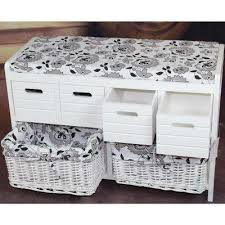Cushioned Storage Bench White Entryway Benches U0026 Trunks Entryway Furniture The Home