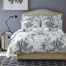 linen house edith grey black floral shabby chic duvet cover quilt