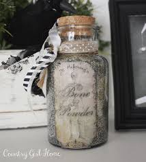 country home homemade halloween potion bottles
