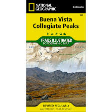 Colorado Mountains Map by 129 Buena Vista Collegiate Peaks Trail Map National Geographic