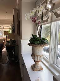 faux orchids vignette design faux real