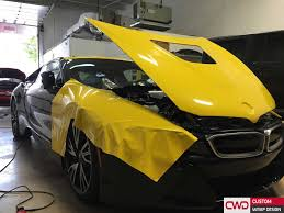 bmw i8 gold bmw i8 wrapped in 3m bright gloss yellow car wraps miami