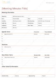 meeting minutes template in descriptive format freelance design