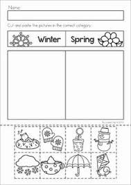 preschool printable worksheets summer winter sorting and worksheets