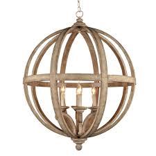 y decor hercules 4 light brown wood globe chandelier hercules