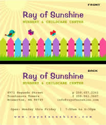 childcare business cards childcare business card vizons design