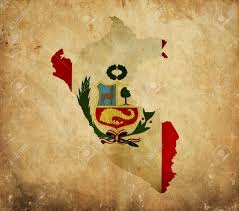Peru On Map Vintage Map Of Peru On Grunge Paper Stock Photo Picture And