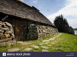farm style house house building stone wood rock wall norway farm style of