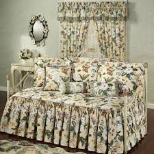 garden images iii ruffled flounce floral daybed set bedding