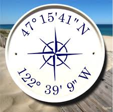 nautical compass coordinates sign latitude longitude gifts