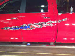 Automotive Flags American Flag Truck Decals Usa Tear Auto Decal American Auto Graphic