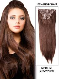 Human Hair Extensions With Clips by 16 Inch 8pcs Straight Brazilian Clip In Remy Hair Extensions 4